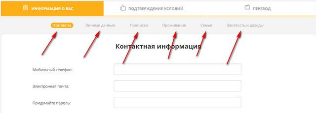 Форма заполнения заявки на займ в манисто