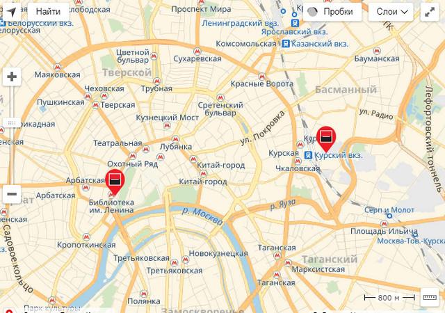 Карта офисов Дельтакредит в Москве