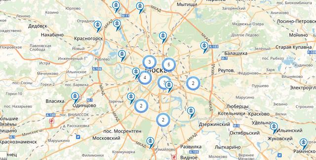Карта офисов Уралсиб банка в Москве