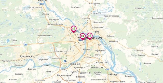 Фото адресов отделений Ренессанс Кредит в Нижнем Новгороде