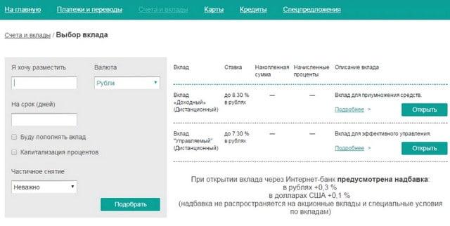 Возможности личного кабинета банка РНКБ