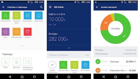 Фото мобильного банка на андроид устройствах