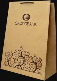 Фото пакета с логотипом Экспобанка