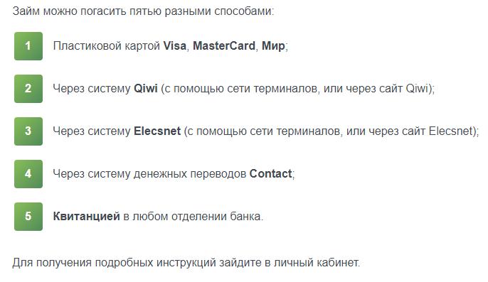 Как оплатить займ ГлавФинанс